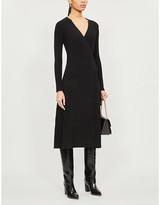 Diane von Furstenberg Natasha wool-blend midi wrap dress
