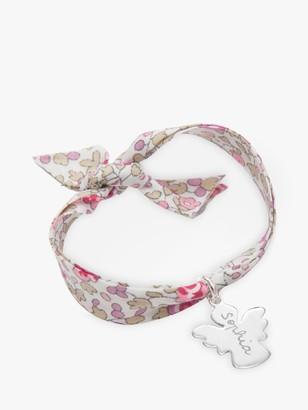 Merci Maman Personalised Sterling Silver Angel Liberty Bracelet