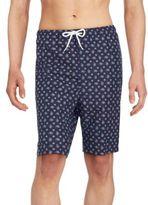 Saks Fifth Avenue Printed Drawstring Waist Swim Shorts