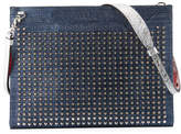 Christian Louboutin Skypouch Lamé; Studded Men's Shoulder Bag