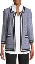 Misook 3/4-Sleeve Textured Jacket