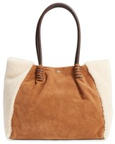 UGG Heritage Leather and Genuine Shearling Tote