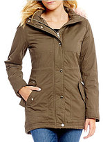 GUESS Faux Fur Hooded Anorak Jacket