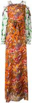 Tory Burch Shasta open shoulder dress - women - Silk/Polyester - 4