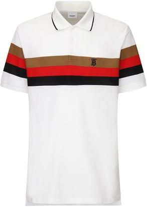 Burberry Heritage Striped Cotton Pique Polo Shirt