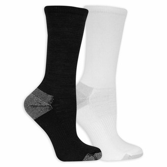 Dr. Scholl's Women's American Lifestyle Be Wandered Premium Yarns Crew 2 Pair