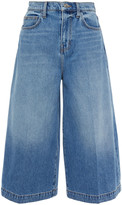 Thumbnail for your product : Current/Elliott Faded Denim Culottes