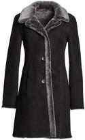 The Fur Salon Lamb Shearling Reversible Coat