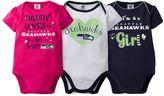 Baby Girl Seattle Seahawks 3-Pack Bodysuits