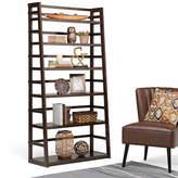 Asstd National Brand ACADIAN WIDE LADDER SHELF BOOKCASE, One Size , Brown