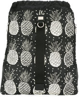 Dolce & Gabbana pineapple print drawstring backpack - men - Calf Leather/Acrylic/Nylon - One Size