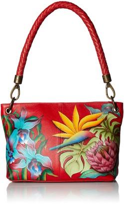 Anuschka Womens Genuine Leather Medium Shoulder Bag | Hand Painted Exterior | Island Escape