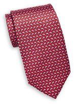 Saks Fifth Avenue Dolphin Print Silk Tie