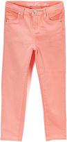 U.S. Polo Assn. Melon Stretch Sateen Twill Pants - Toddler & Girls