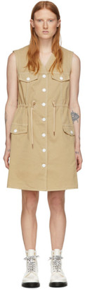 See by Chloe Beige Denim Fitted Dress