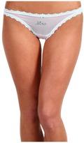 Betsey Johnson Sheer Marquisette Bridal Thong 722033 (Virgin White Mrs...) - Apparel