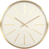 Present Time White Brass Maxiemus Wall Clock