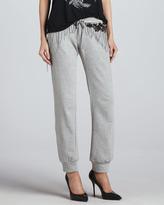Haute Hippie Embellished Knit Sweatpants