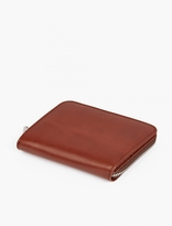A.p.c. Brown Leather Compact Wallet
