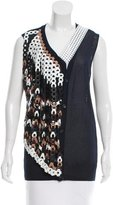 J.W.Anderson Leather-Accented Sleeveless Cardigan