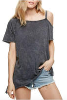 Free People Cut Out Washed Tee