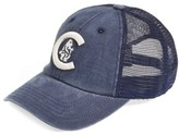 American Needle Men's 'Chicago Cubs - Raglan Bones' Mesh Trucker Cap - Blue