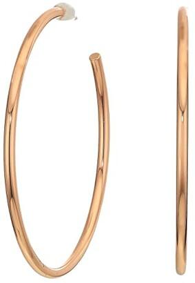 Madewell Medium Hoop Earrings (Rose Gold) Earring