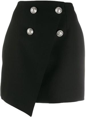 Balmain Double-Breasted Asymmetric Skirt
