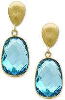 Effy Ocean Bleu Blue Topaz Drop Earrings (9-3/4 ct. t.w.) in 14k Gold