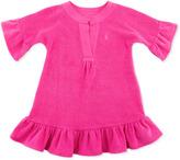 Ralph Lauren Terry Cloth Ruffle-Trim Cover Up, Belmont Pink, 9-24M