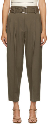 3.1 Phillip Lim Khaki Wool Utility Belt Trousers