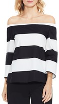 Vince Camuto Camden Stripe Off-The-Shoulder Top
