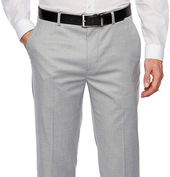 Jf J.Ferrar Stretch Light Gray Slim Fit Suit Pants