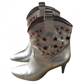 Marc Jacobs Silver Leather Ankle boots