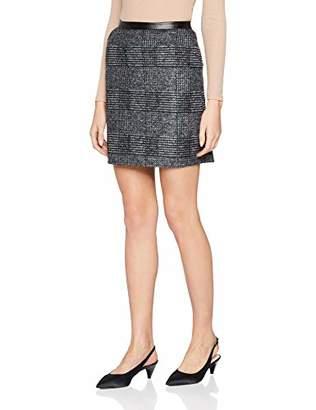 S'Oliver BLACK LABEL Women's 1e.895.78.5570 Skirt, (Grey/Black Check 99n2), 18 (Size: )