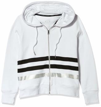 Calvin Klein Women's Metallic Stripe Logo Zip Front Hoodie Jacket