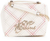 Love Moschino stitched logo crossbody bag - women - Polyurethane - One Size