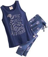 Disney Cheshire Cat Tank Top Pajama Set for Women by Munki Munki®