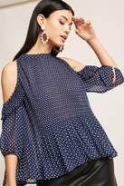 Forever 21 Sheer Polka Dot Chiffon Top