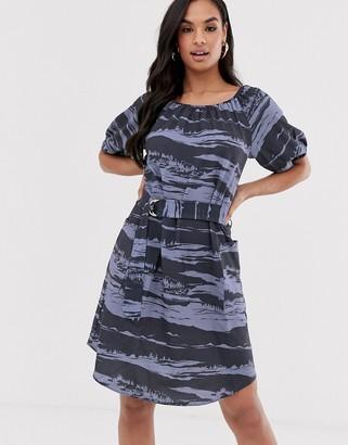 Closet London Closet raglan sleeve dress-Blue