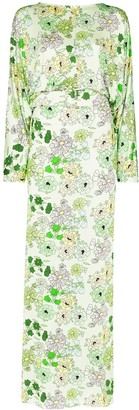 BERNADETTE Elizabeth belted floral-print dress