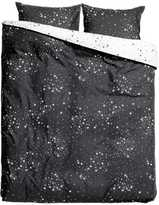H&M Patterned Duvet Cover Set - Charcoal gray/stars