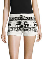 Betsey Johnson Cozy Intarsia Sweater Shorts