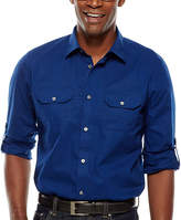 Claiborne Slim-Fit Roll-Sleeve Shirt