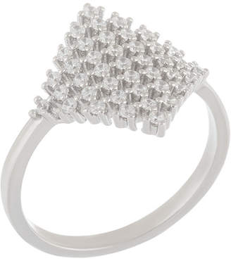 Generic Cz Silver Cz Fancy Cocktail Ring