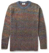 Acne Studios Nikos Oversized Mélange Knitted Sweater - Blue