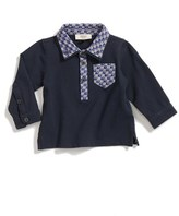Armani Junior Infant Boy's Long Sleeve Pique Polo