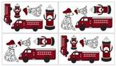 JoJo Designs Sweet Frankie's Fire Truck Wall Decals