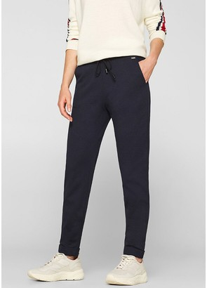 """Esprit Straight Trousers with Elasticated Waist, Length 30"""""""