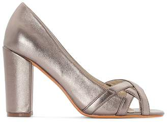 Castaluna Plus Size Wide-Fit Metallic Heels